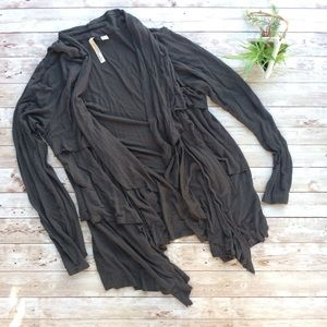 New York & Company Gray Cardigan Long Sleeves